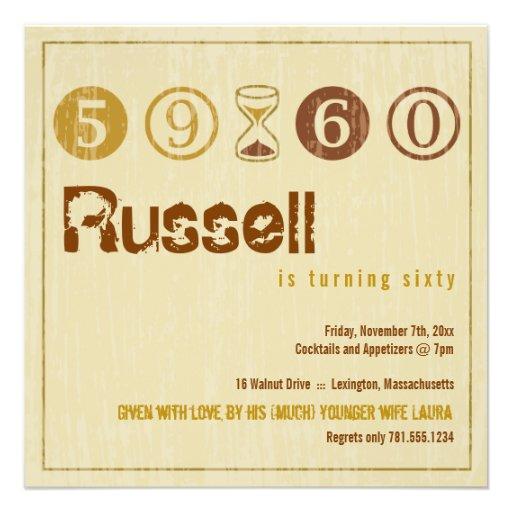 60th Birthday Invitation - Customize