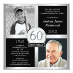 60th Birthday Invitations Then & Now Photos