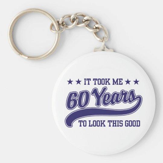 60th Birthday Keychain