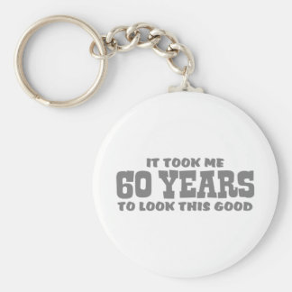 60th Birthday Keychain