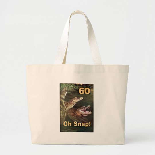 60th Birthday Large Tote Bag
