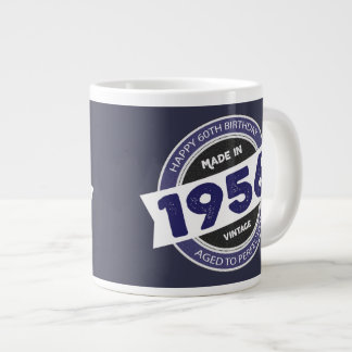 60th Birthday Made in 1956 Vintage Giant Coffee Mug