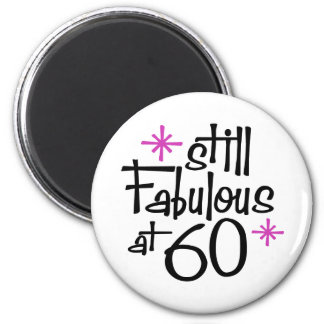 60th Birthday Fridge Magnet