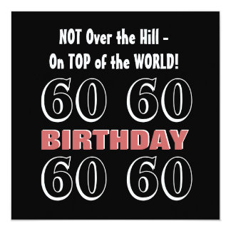 60th Birthday Modern Burgundy Black Funny Y169 Card
