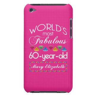 60th Birthday Most Fabulous Colorful Gems Pink iPod Touch Case