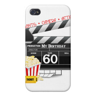 60th Birthday Movie Theme Cover For iPhone 4