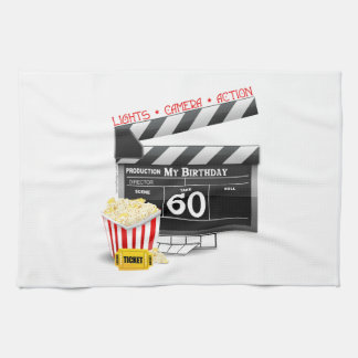 60th Birthday Movie Theme Kitchen Towel