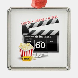 60th Birthday Movie Theme Metal Ornament