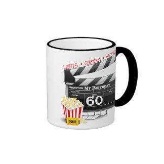 60th Birthday Movie Theme Mugs