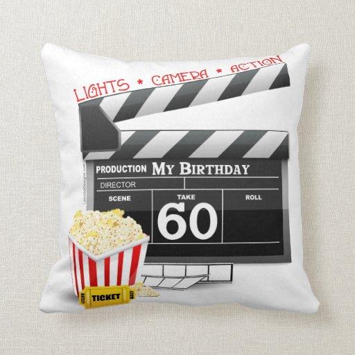 60th Birthday Movie Theme Pillow