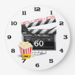 60th Birthday Movie Theme Wall Clock