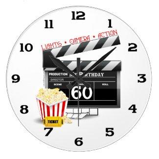 60th Birthday Movie Theme Wallclocks