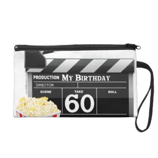 60th Birthday Movie Theme Wristlet Purse