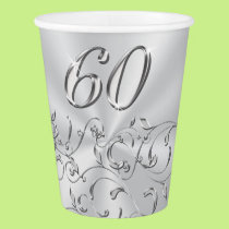 60th Birthday or 60th Anniversary Paper Cups