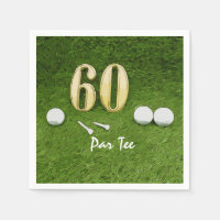 60th Birthday Par tee Party for golfer Napkin