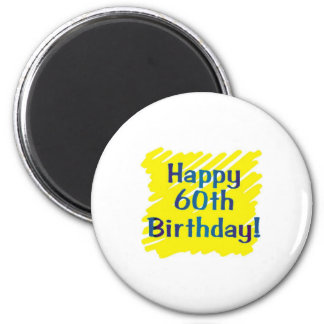 60th birthday party 2 inch round magnet