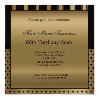 60th Birthday Party   DIY Text Card
