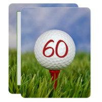 60th Birthday Party Golf theme Invitation