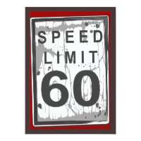 60th birthday invitations zazzle 60th birthday party grungy speed limit sign filmwisefo Images