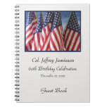 60th Birthday Party Guest Book, Flags Spiral Notebooks