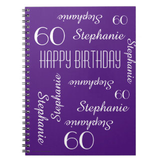 60th Birthday Party Guest Book, Repeating Names Notebook