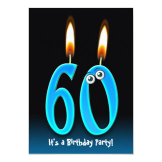 60th Birthday Party 5x7 Paper Invitation Card