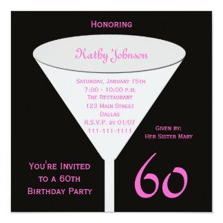 60th Birthday Party Invitation -- 60th Toast