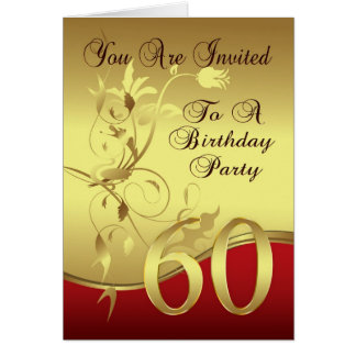 60th Birthday Party Invitation Card