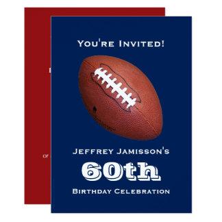 60th Birthday Party Invitation, Football Card