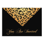 60th Birthday Party Invitation in Leopard
