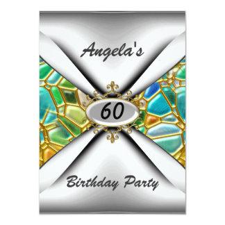 60th birthday party Invitation sixty