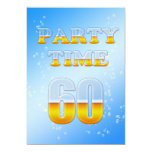 "60th birthday party invitation with beer 5"" x 7"" invitation card"