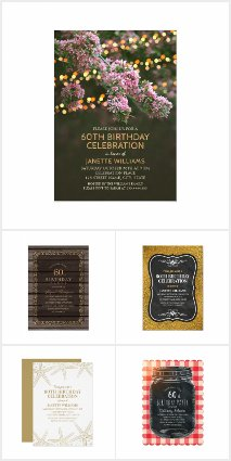 country sunflower 60th birthday invitations rustic wood templates