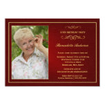 60th Birthday Party Invitations - Add your photo
