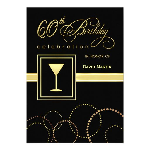 60th Birthday Party Invitations - Contemporary