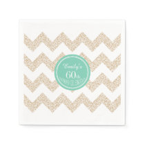 60th Birthday Party Paper Napkins - Choose Color
