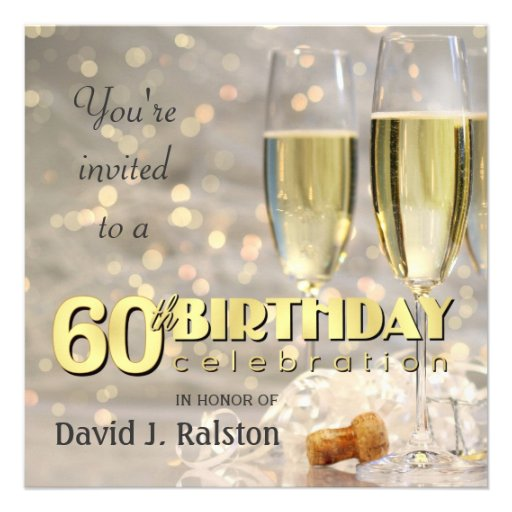 60th Birthday Party  - Personalized Invitations