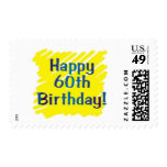 60th birthday party postage