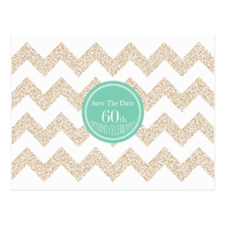 60th Birthday Party - Save the Date - Choose Color Postcard
