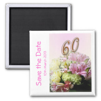 60th birthday party Save the Date Magnet