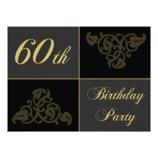 60th Birthday Party supplies Custom Announcement