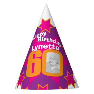 60th Birthday Personalized Photo Star Name Hat
