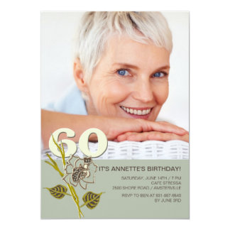 60th Birthday Photo Invitation