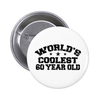 60th Birthday Pinback Button