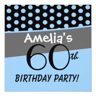 60th Birthday Polka Dots Modern Template