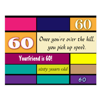 60th Birthday Postcard