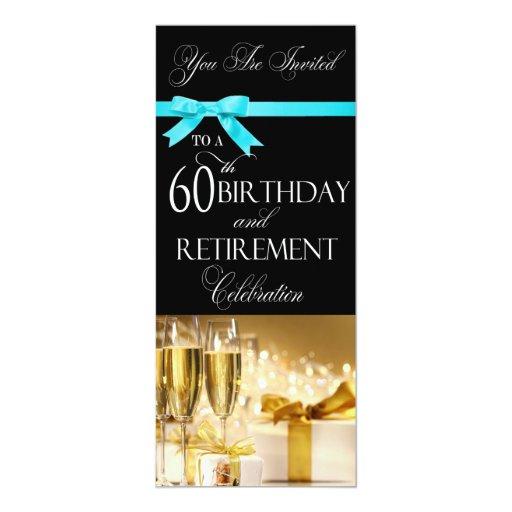 60th Birthday Retirement Combination Invitation   Zazzle