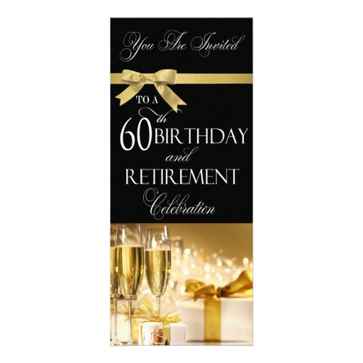 60th Birthday Retirement Combination Invitation