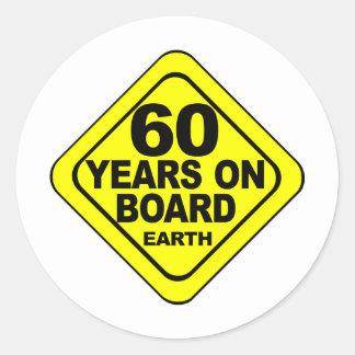 60th Birthday Sticker