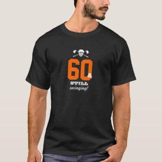 60th Birthday - Still Swinging - Golf Skull T-Shirt